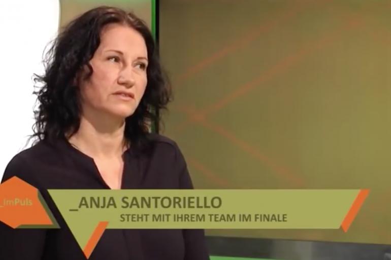 Anja Santoriello im TV-Interview zur Finalteilnahme an den Duisburger Tanztagen 2018