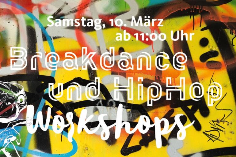 Breakdance und HipHop Workshops am 10. März 2018 ab 11:00 Uhr