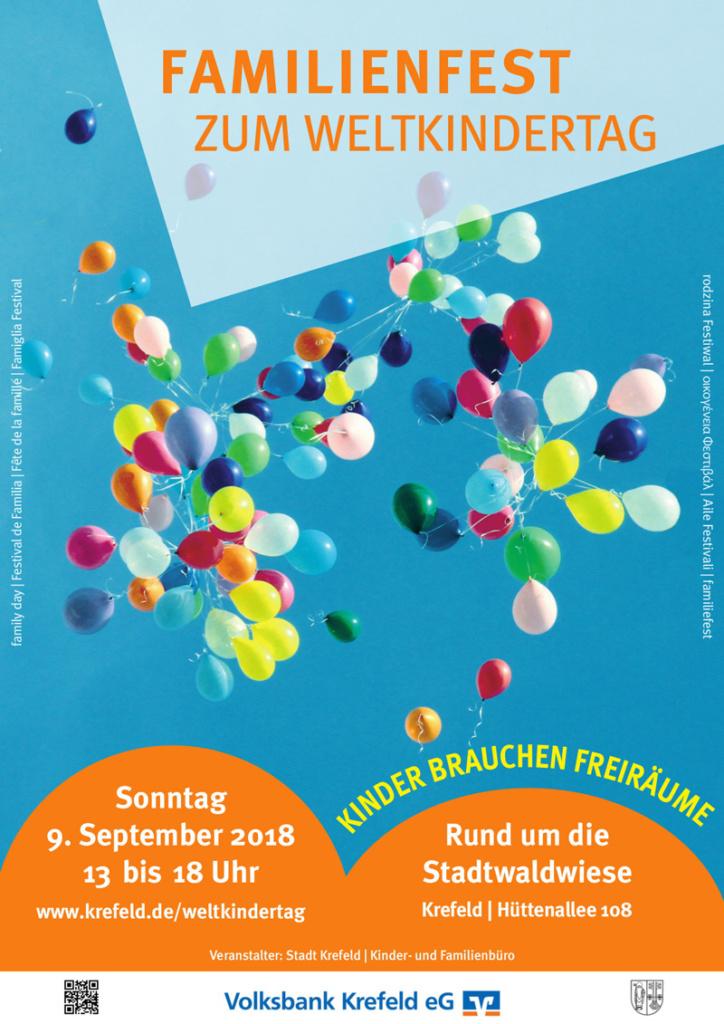 Weltkindertag Krefeld 2018 Plakat