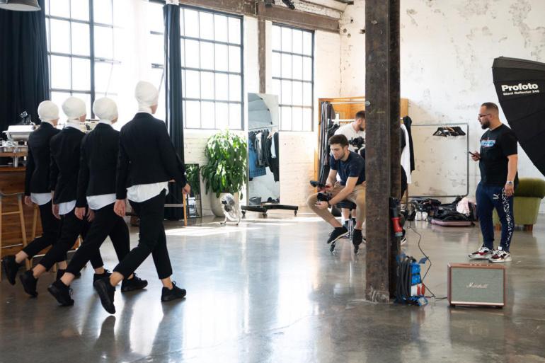 Videodreh für Beyamin Omrani mit Tänzerinnen des Studio 232, Krefeld
