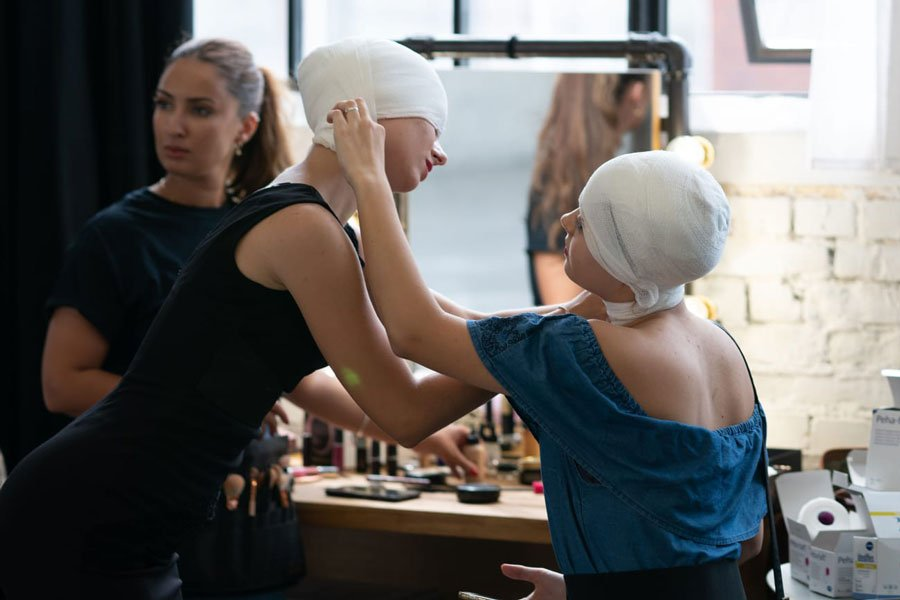 In der Maske, Musikvideo Dreh von Beyamin Omrani mit Tänzerinnen des Studio 232